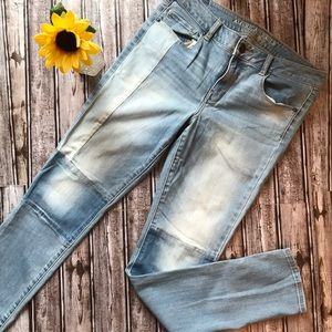 American Eagle skinny patchwork jeans 10